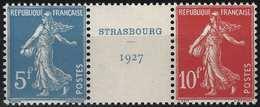FRANCE Strasbourg 1927 Bande N°241/242** Coeur Du Bloc N°2, Superbe Signé Calves - France