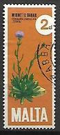 MALTE    -   1971.   Y&T N° 431 Oblitéré .  Fleur Centaurée - Malta