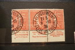 Publicité N°199 Bande Publicitaire Bande De 3 Vin Jaffelin Bourgogne Oblitéré Le Havre 1928 - Publicités