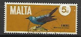 MALTE    -   1971.   Y&T N° 432 Oblitéré .   Oiseau - Malta