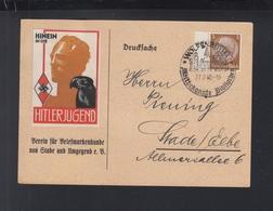 Dt. Reick PK 1940 Wolfenbüttel Vignette Hinein In Die Hitlerjugend - Deutschland