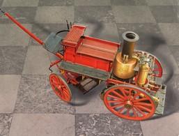 2 CARTONS PUBLICITE  SOLUPRED -  Voiture à 4 Roues Pour 8 Chevaux -  Fourgon Pompe Automobile - Pompiers - Publicités