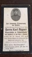 Sterbebild Wk1 Bidprentje Avis Décès Deathcard IR11 BERTRIMOUTIER Block 1 Grab 19 Aus Schweinbach - 1914-18