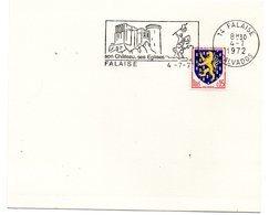 CALVADOS - Dépt N° 14 = FALAISE 1972 = FLAMME Type II = SECAP Illustrée D'un Cavalier 'CHATEAU - églises' - Postmark Collection (Covers)