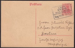 Bayern Bahnpost EGER - WIESAU 1921 Ganzsache Nach Breslau  (23069 - Unclassified