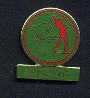 Pin's Carte De France Golf Moniteur Apgf - Golf