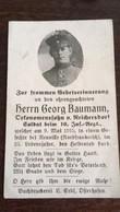 Sterbebild Wk1 Bidprentje Avis Décès Deathcard IR10 Neuville St. Laurent Blangy Aus Reichersdorf - 1914-18