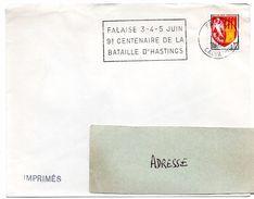 CALVADOS - Dépt N° 14 = FALAISE 1966 = FLAMME SECAP  '9° CENTENAIRE DE LA BATAILLE D' HASTINGS ' - Postmark Collection (Covers)