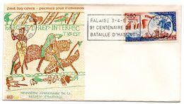 CALVADOS - Dépt N° 14 = FALAISE 1966 = FLAMME FDC N° 1486 SECAP  '9° CENTENAIRE DE LA BATAILLE D' HASTINGS ' - Postmark Collection (Covers)
