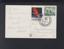 Dt. Reick AK Wien Vignette Messe 1940 - Briefe U. Dokumente