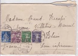 Suisse Lettre 1939 De Bern (cachet ) A France Blain 44 Loire Atlantique - Schweiz