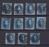 N°  11 A PLANCHE IV  : 11 Timbres Margés Et Planchés - 1858-1862 Medaillen (9/12)