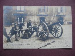 CPA PHOTO 1929 STRASSENKAMPFE IN BERLIN Geschutzfeuer Im Schlosshofe SELTEN COMBAT COMMUNISTES NAZIS Militaires ? Canon - Deutschland