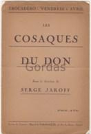 "France - Paris - Trocadero - Serge Jaroff - Program - ""Les Cosaques Du Don"" - 4 Pages - 16x24cm - Programmi"