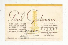 Carte De Visite , Paul GODINEAU ,peinture ,vernis , Angers ,R. Ogereau ,représentant ,écrite - Cartes De Visite