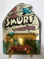 Schtroumpf.The Smurfetta. Smurfette. Die Cast Metal. Voiture Miniature Dans Son Emballage. - Smurfs