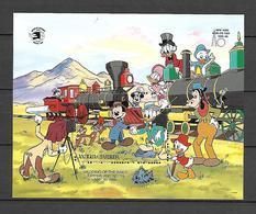 Disney Antigua & Barbuda 1989 Train - Wedding Of The Rails MS MNH - Disney