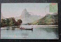Tahiti Moorea Baie D'opunonu  Cpa Timbrée Oceanie - Polynésie Française