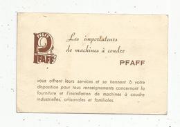 Carte De Visite , Machines à Coudre PFAFF ,Paris , 2 Scans - Cartes De Visite