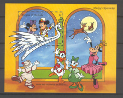 Disney Antigua & Barbuda 1993 Mickey's Nutcracker MS MNH - Disney