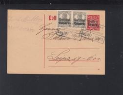 Bayern GSK Mit ZuF 1919 Bahnpost Staffelstein Nach Leipzig - Bayern