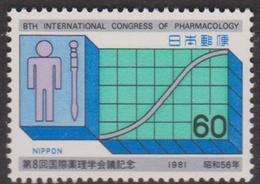 Japan SG1631 1981 8th Congress Of Pharmacology, Mint Never Hinged - 1926-89 Emperor Hirohito (Showa Era)