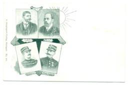 Dreyfus, Esterhazy. Labori, Zola. Postkarte 1900. - Evènements