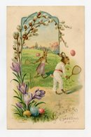 Joyeuses Pâques . LAPIN Humanisé . RABBIT Easter . Osterhase . Kaninchen - Pâques