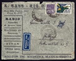 POSTE AÉRIENNE PAR GRAF ZEPPELIN VIA CONDOR 1935-   VOYAGE RETOUR DU BRESIL - LE 21-11-35- 1 SCANS - Luftpost
