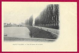 CPA Saint-Valéry Sur Somme - Les Écluses Et La Gare - Saint Valery Sur Somme