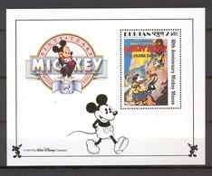 Disney Bhutan 1989 Mickey In Ye Olden Days MS MNH - Disney