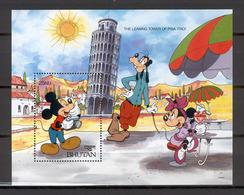 Disney Bhutan 1991 The Leaning Tower Of Pisa MS MNH - Disney
