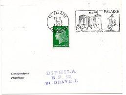 CALVADOS - Dépt N° 14 = FALAISE 1972 = FLAMME à DROITE = SECAP Illustrée D'un Cavalier 'CHATEAU - églises' - Postmark Collection (Covers)