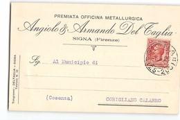16586 DEL TAGLIA OFFICINA METALLURGICA SIGNA FIRENZE X CORIGLIANO CALABRO - 1900-44 Vittorio Emanuele III