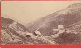 Photo Originale  Sur Carton  Fin 19 ème Passage Et Hotel De La Furka  Format  10,5x6,3 Numero 342 - Anciennes (Av. 1900)