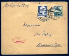 POSTE AÉRIENNE PAR HINDENBURG ZEPPELIN 1936-  PREMIER VOYAGE D'ESSAI EN ALLEMAGNE- 23-3-36- 1 SCAN - Luftpost