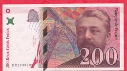 """200 Francs """"Eiffel"""" 1996 ---VF/SUP ----n°R.029392099 - 1992-2000 Ultima Gama"""