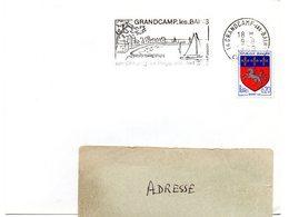 CALVADOS - Dépt N° 14 = GRANDCAMP Les BAINS 1968 = FLAMME Codée = SECAP Illustrée 'CAMPING / PLAGE / PORT / POISSON ' - Postmark Collection (Covers)