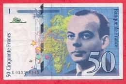 "50 Francs ""St Exupéry"" 1996 ---VF/SUP ----n  °E.025508545 - 50 F 1992-1999 ''St Exupéry''"
