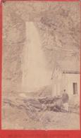 Photo Originale Sur Carton Fin 19 ème Cascade De Pissevache Format  6,3x10,5  Numero 332 - Anciennes (Av. 1900)