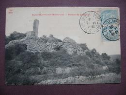 CPA 71 SAINT MARTIN SOUS MONTAIGU écrit MONTAIGUT Ruines Du Chateau Canton GIVRY - France
