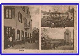 23102  CPA HAGENAU  / HAGUENAU  !  Carte Allemande 3 Vues  ; Kantine   Rechenmühle   ;  Geprüft 1916 !! - Haguenau