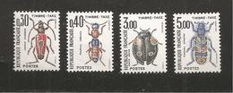 France, Taxe 109/112, Neuf **, TTB, Insectes, Coléoptères - Taxes