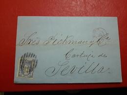 España Antigua Carta Circulada De Madrid A Sevilla 1869 - 1868-70 Gobierno Provisional