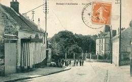 Boissy-Laillerie  95   La Rue De  La.....bien Animée Et Boucherie Et Café - Boissy-l'Aillerie