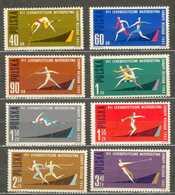 POLAND MNH ** 1198-1205 Saut à La Perche En Hauteur, Relais, Lancement Du Javelot Du Disque Du Marteau, 100 Mètres Sport - 1944-.... Republik