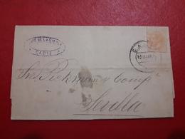 España Antigua Carta Circulada De Cadiz A Sevilla 1862 - Cartas