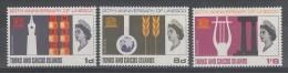 SERIE NEUVE DE TURKS ET CAIQUES - 20EME ANNIVERSAIRE DE L'UNESCO N° Y&T 196 A 198 - UNESCO