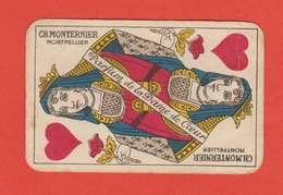 Publicité Carte à Jouer Parfum De La Dame De Coeur Ch.Monternier Montpellier 5.2 X 8 Cms Dos Scanné - Advertising