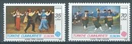 TURQUIE - 1981 - MNH/*** LUXE - EUROPA  DANSES - Mi 2546-2547 Yv 2318-2319 - Lot 12444 - 1921-... Republic